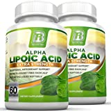 BRI Nutrition Alpha Lipoic Acid Softgels - 2-Pack 300mg Fast Absorption Liquid Softgels