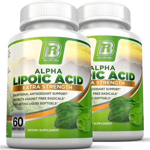 BRI Nutrition Alpha Lipoic Acid Softgels - 2-Pack 300mg Fast Absorption Liquid Softgels by BRI Nutrition