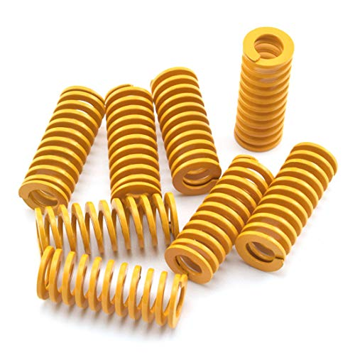 SDTC Tech 3D Printer Light Load Die Spring 10mm 25mm(OD H) Heated Bed Compression Springs for Creality CR-10 10S S4 Bottom Connect Leveling - 8 Pack
