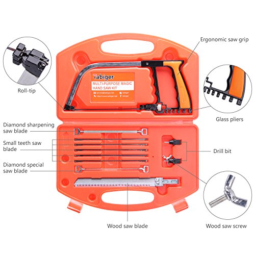 Magic-Hand-Saw-Set-Multi-purpose-14-in-1-Hacksaw-Wood-Saw-Woodworking-Tools-Bow-Saw-Portable-Saw-Kit-for-Cutting-Wood-Tile-Glass-Metal-Hunting-Camping-Pruning-Diy-in-Tool-case-Tabiger