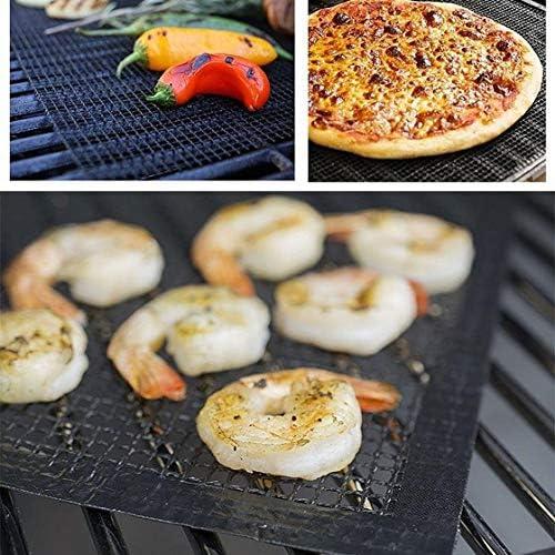 Jessicadaphne Tapis de Barbecue réutilisable Tapis antiadhésif Robuste Accessoire de Barbecue Facile à Nettoyer pour Les Amateurs de Barbecue