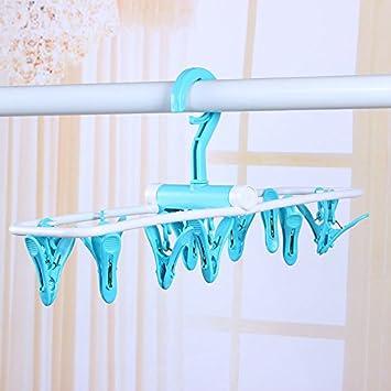 U-ecuerda 12 Clip de plástico plegables Hangers-Wind ...