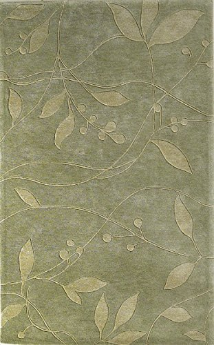 KAS Oriental Rugs Bali Collection Visions Area Rug, 5' x 8', Celadon