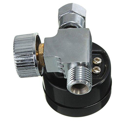 1/4inch Adjustable Mini Air Pressure Regulator Dial Gauge HVLP Spray Gun Air Tools (Adjustable Air Pressure Regulator compare prices)
