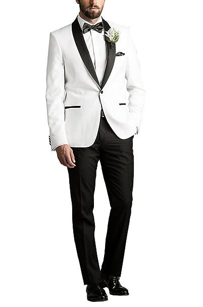 c900d36abb2b Suit Me Herren 2-Teilig Anzug Fuer Hochzeiten 1 Knopf Party Smoking Anzuege  Sakko,Weste,Hose  Amazon.de  Bekleidung