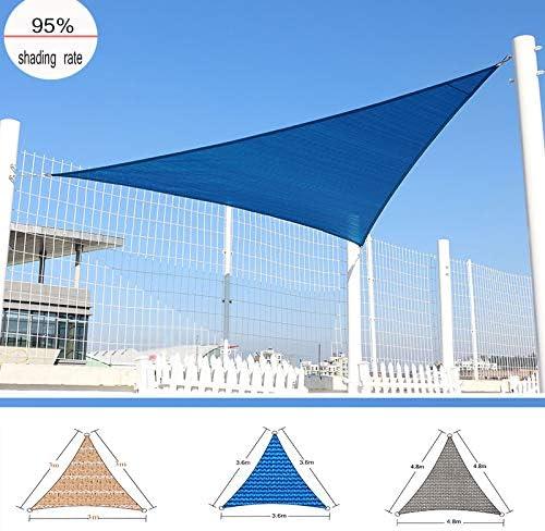 LKLXJ Vela de Sombra, Tela de Sombra del 90%, toldo Vela/Usado para Patios al Aire Libre, Protector Solar, Cubierta de Dosel para Plantas de Flores (4.8x4.8x4.8m) Beige: Amazon.es: Hogar