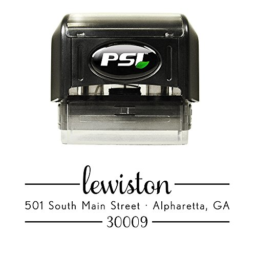 Custom Self Inking Return Address Stamp - Pre Inked - Black Ink - Design SAML2770 ()