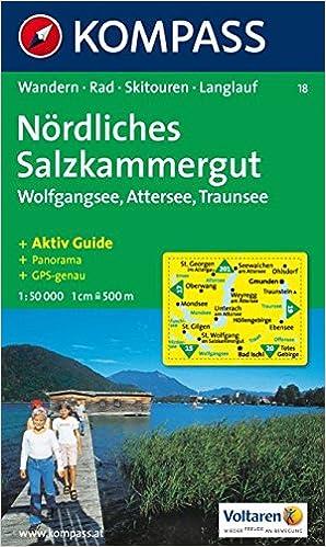 Salzkammergut Karte.Nordliches Salzkammergut Wolfgangsee Attersee Traunsee