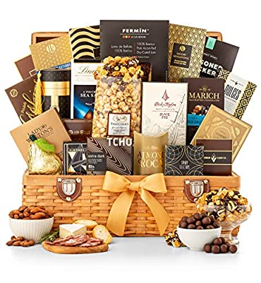 GiftTree Grand Indulgence Gourmet Gift Basket | Savory Favorites and Sweet Indulgences | Great Present for Christmas, Birthday, Thank You, Corporate Gifting