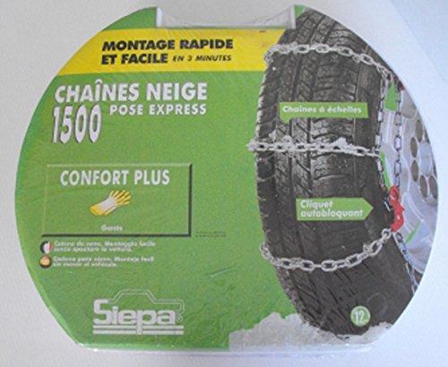 Paire de chaines neige pour pneu 165//65//15 TOP CHRONO 1500 N6