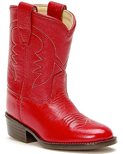 Old West Toddler-Girls' Cowboy Boot Red 7.5 D(M) US