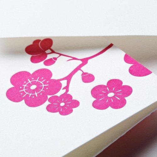 Crane & Co. Letterpress Plum Blossom Note (CF1329), Pack of 10 Photo #2
