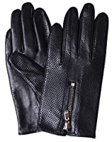 GSG 15% OFF Womens Leather Gloves Motorcycle Touchscreen Driving Gloves Lady Perforated Mesh Italian Genuine Nappa