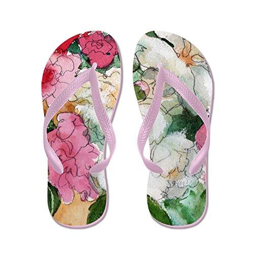 CafePress Pretty Peony - Flip Flops, Funny Thong Sandals, Beach Sandals Pink