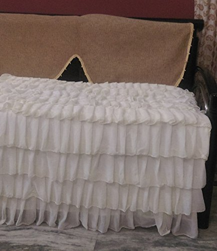 Daybed Size Chiffon Layered Decorative Bedspread by DecorWithShams