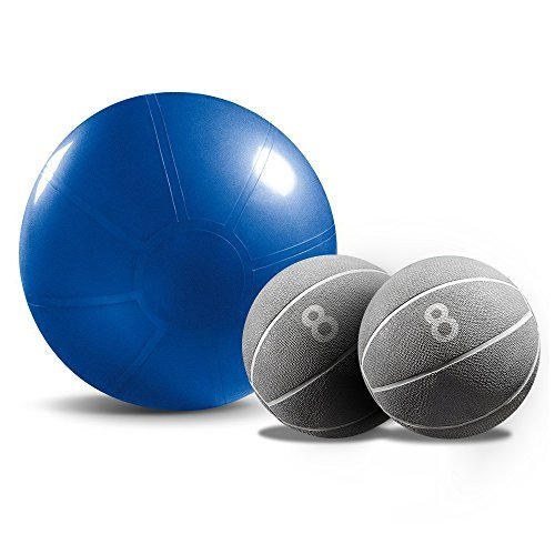 Stability Ball and 2 Medicine Ball Combo Pack – DiZiSports Store