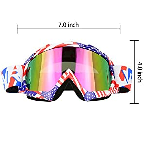 Motorcycle Goggles Dirt Bike ATV Motocross Mx Goggles Glasses for Men Women Youth Kids (8 Color) (C61)