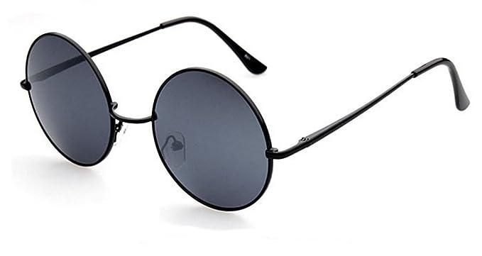 3790d4229ef889 Lunettes de soleil Chic-Net unisexe lunettes rondes hippie John Lennon  teinté 400UV noir violet