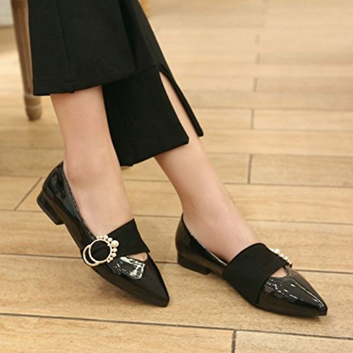 Black Zanpa Piatto Donna Moda Scarpe Ballerine qRrXRxnSw