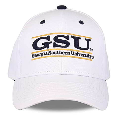 The Game NCAA Georgia Southern Eagles Unisex NCAA bar Design Hat, White, (Bar Adjustable Hat)
