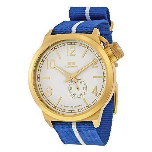 """Vestal Men's CAN3N05 """"Canteen Zulu"""" Stainless Steel Watch with Canvass Band"""