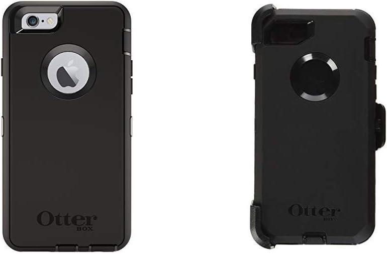 OtterBox Defender iPhone 6/6s Case - Frustration Free Packaging - Black Bundle with OtterBox Defender Series Case for iPhone 8 & iPhone 7 (Not Plus) - Frustration Free Packaging - Black