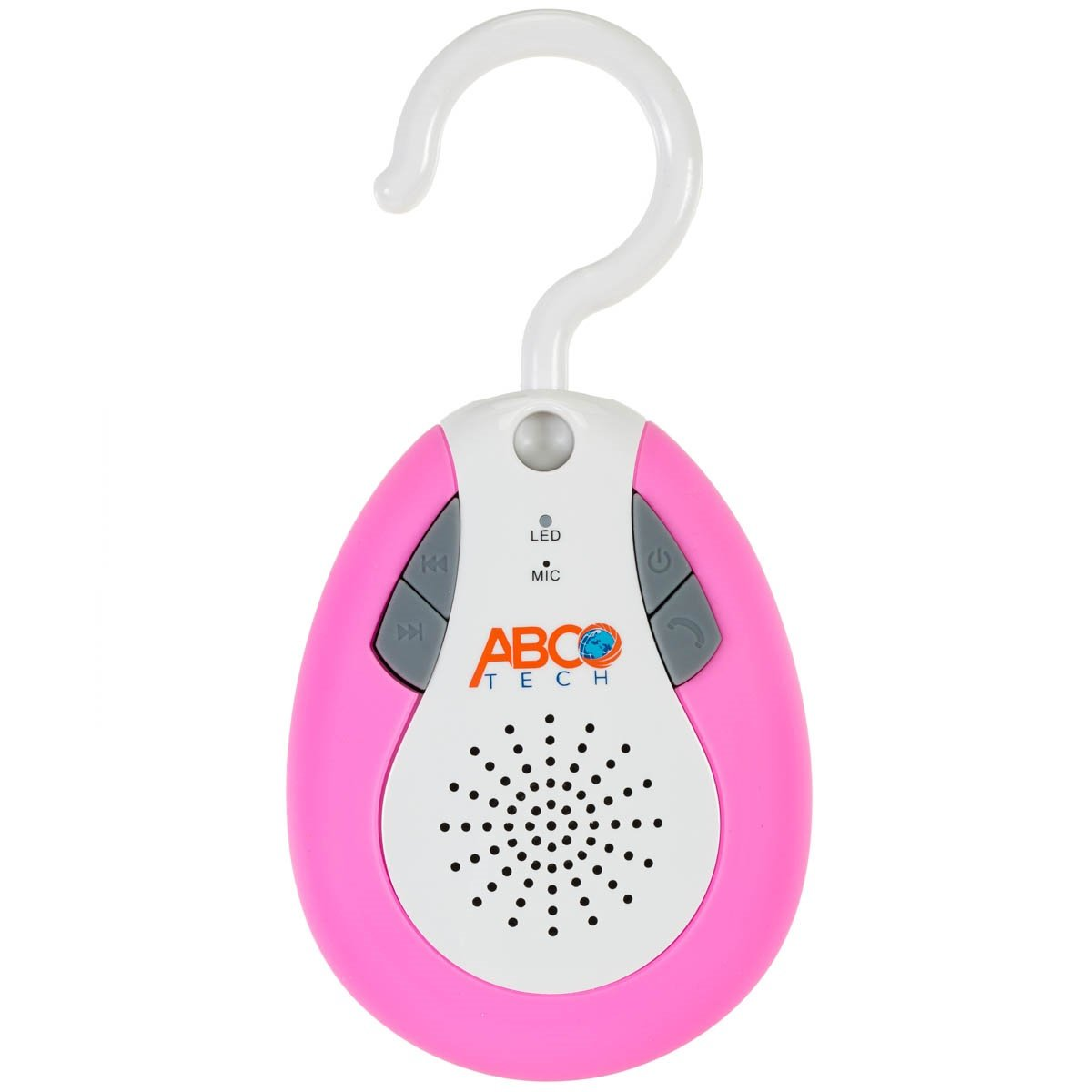 Abco Tech Water Resistant Wireless FM Radio Bluetooth Shower Speaker with Hook Handle and Hands-Free Speakerphone, Pink YNF Trading Inc. Hook Speaker Black
