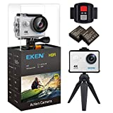 Photo : EKEN H9R Action Camera 4K Wifi Waterproof Sports Camera Full HD 4K 25fps 2.7K 30fps 1080P 60fps 720P 120fps Video Camera 12MP Photo and 170 Wide Angle Lens includes 11 Mountings Kit 2 Batteries Silver