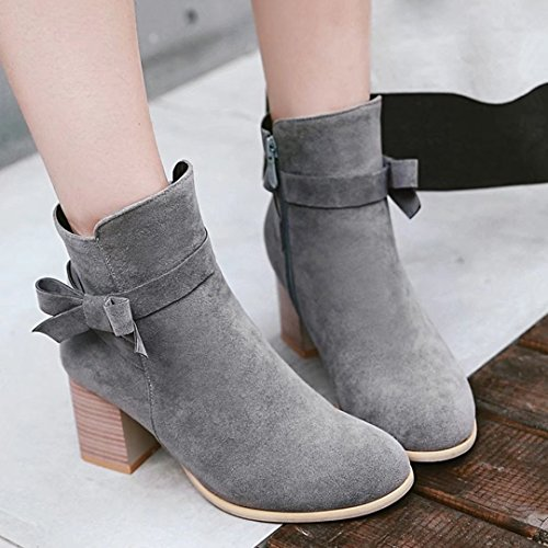 AIYOUMEI Women's Classic Boot Grey tusl4A