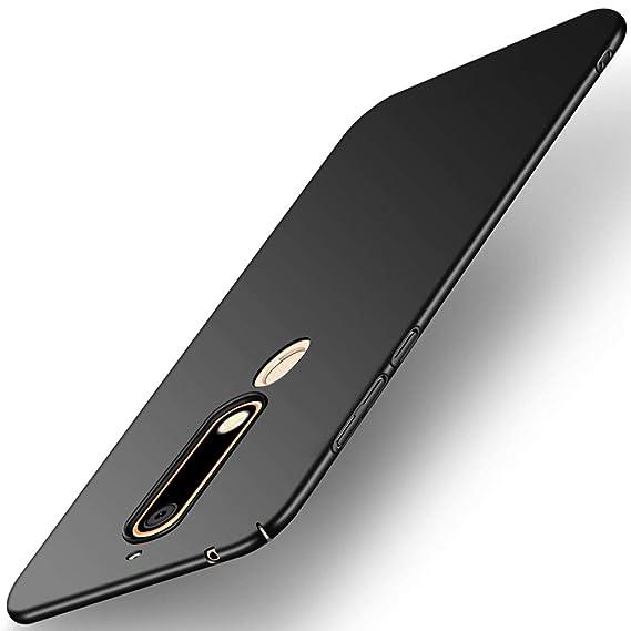 wholesale dealer fa98e f6b45 TheGiftKart Nokia 6.1 (2018) Back Cover Case: Ultra Slim 360* Matte Velvet  Feel Hard Back Cover (Jet Black)