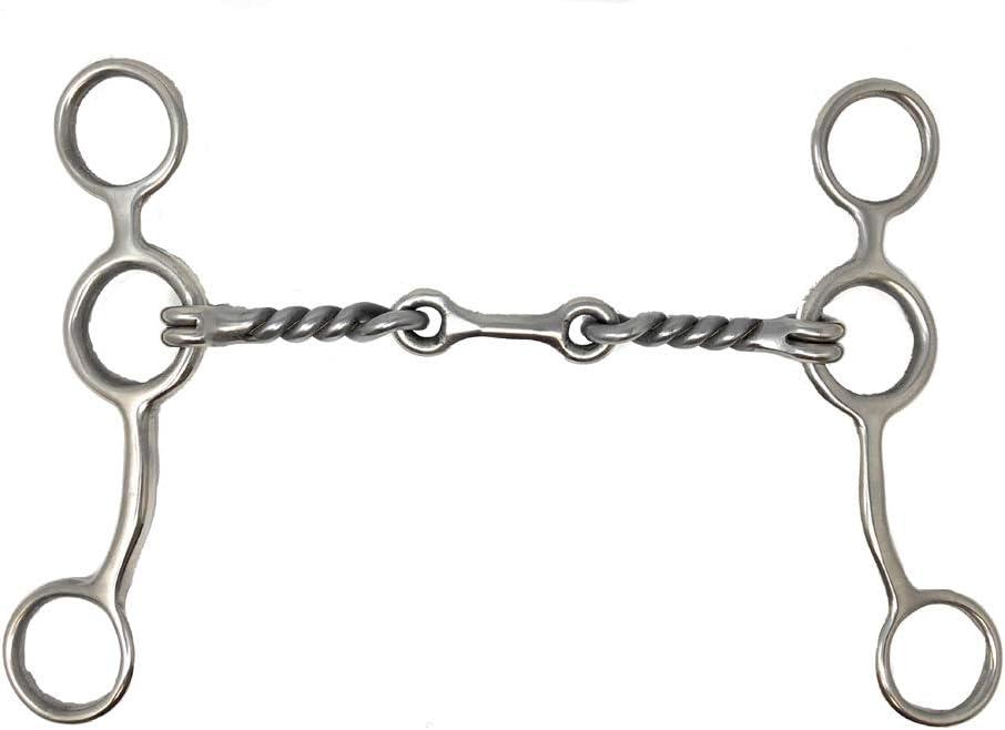 5 Metalab Junior Cow horse Chain Gag Bit