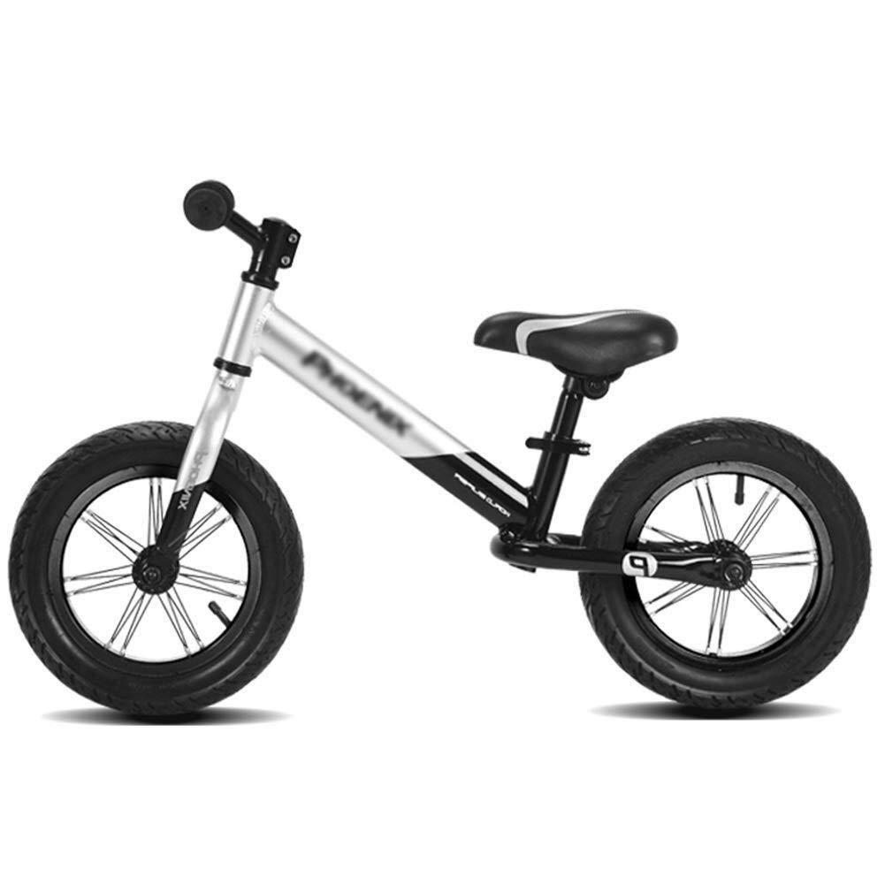 バランスバイク、ガールズバイク、男の子用誕生日プレゼントの軽量トレーニングバイク - 2、3、4、5、6歳、エアタイヤ、アルミ合金ペダルなしウォーキング自転車、ランニングバイク ZHAOFENGMING (Color : Silver, Size : As shown) B07THYKKHS Silver As shown