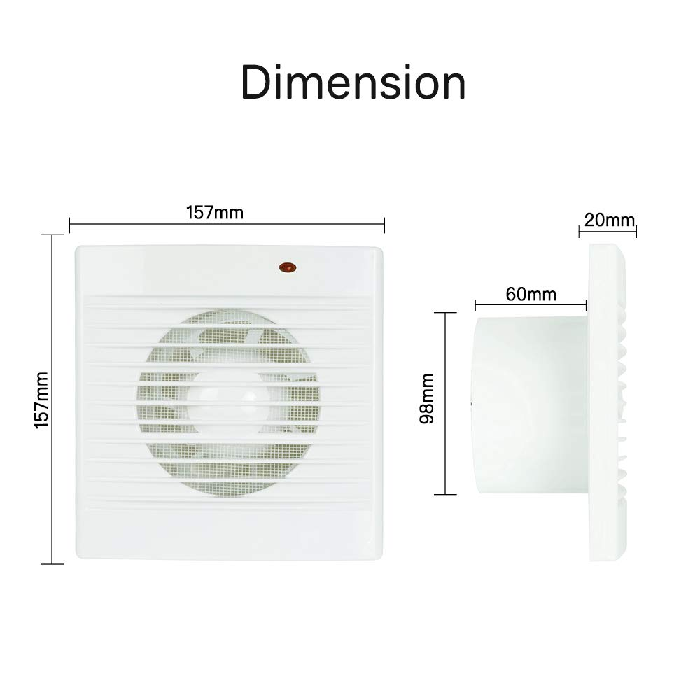 Ventilation Exhaust Fan, HG POWER Strong Exhaust Extrator Fan Wall Mount & Ceiling Exhaust Fan Built-in Household Ventilation Fans (PI372) by HG POWER (Image #1)