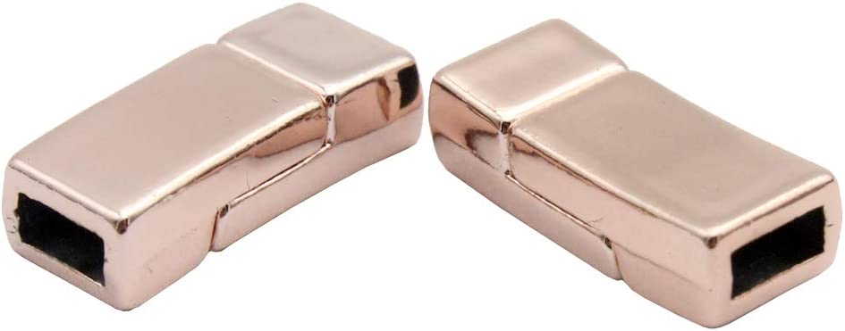Ecloud ShopCA 5 X Silver Plated Magnetic Magnet Clasps Findings 6mm FASHION