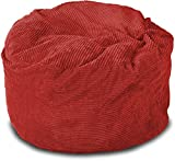 Lounge & Co Corduroy Round Foam Chair, 36-Inch, Red