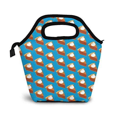 Thanksgiving Pumpkin Pie Lunch Organizer Lunch Holder Insulated Lunch Cooler Bag for Women/Men