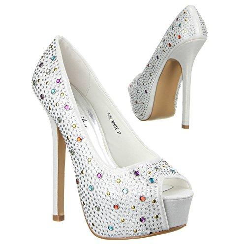 Ital-Design - Plataforma Mujer Blanco - blanco