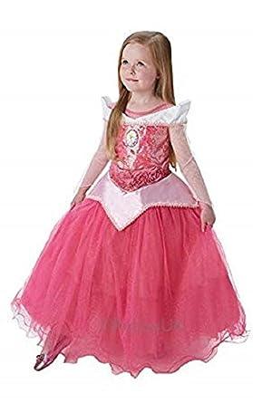 1b024d6fb0b Official Disney Girls Super Deluxe Sequinned Pink Aurora Sleeping Beauty  Fairytale Princess Book Day Halloween Fancy