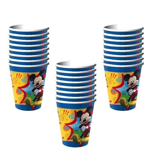 Hallmark Disney Mickey Mouse Clubhouse Party 9 Oz. Paper Cups - 24 Guests by Hallmark
