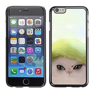 TopCaseStore / la caja del caucho duro de la cubierta de protección de la piel - Cute Funny Cat - Apple iPhone 6