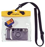 DRY PAK Camera Case, Clear, 6 x 5 x 1 1/2, Yellow/Clear