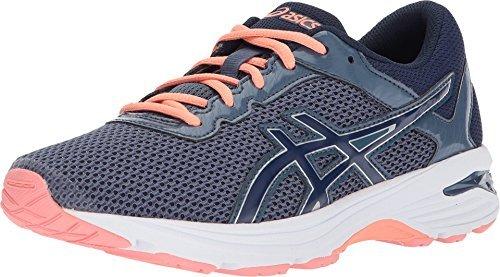 ASICS GT-1000 6 GS Kid's Running Shoe. Smoke Blue/Indigo Blue/Begonia Pink, 5.5 M US Big Kid