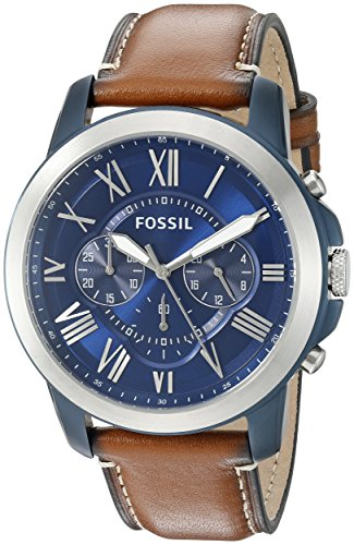 fossil-mens-fs5151-grant-chronograph-stainless-steel-watch-with-light-brown-leather-band