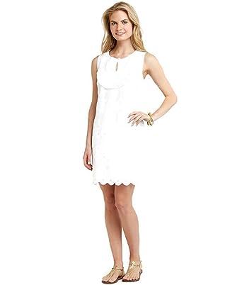 Vineyard Vines Women\'s Eyelet Ruffle Shift Dress White at Amazon ...