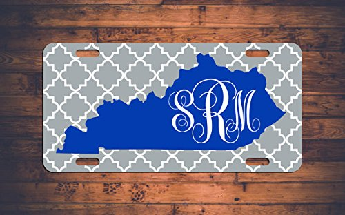 Kentucky Monogram targa auto tag UK Wildcats KY Custom chevron Monogrammed tag personalizzato regalo personalizzato –  personalizza la tua. Generic