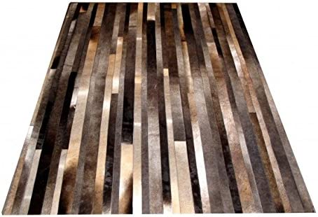New Cowhide Rug Leather. Animal Skin Patchwork Area Carpet 8 X 10