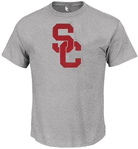 289c apparel USC Trojans SC Interlock Athletic Grey Short Sleeve T Shirt (Medium)