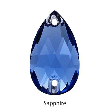 7x12mm 10 Piezas circ/ón Azul PENVEAT Sparkly Tear Drop Fancy Coser en Diamantes de imitaci/ón Cristal Strass Cristal Piedras Strass Bot/ón Trasero Plano Coser en artesan/ías de Ropa