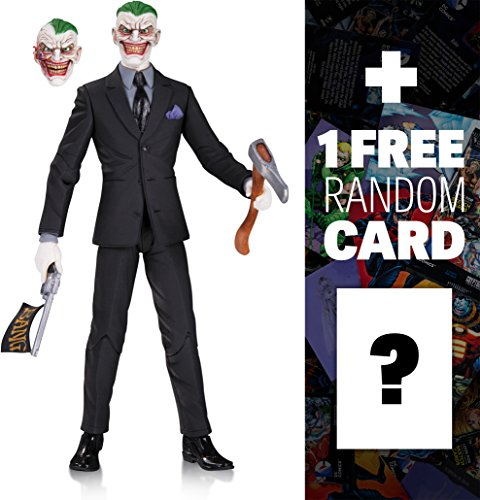 "The Joker by Greg Capullo: ~6.6"" DC Comics Designer Series Action Figure + 1 FREE Official DC Trading Card Bundle (33792)"