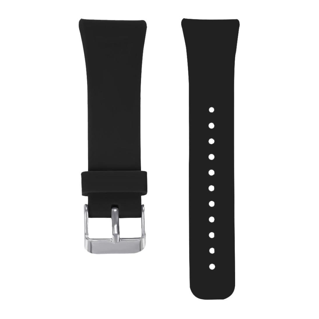 Alonea For Samsung Gear Fit2 Pro Fitness, Sports Silicone Watch Replacement Band Strap (Black) by Alonea (Image #4)